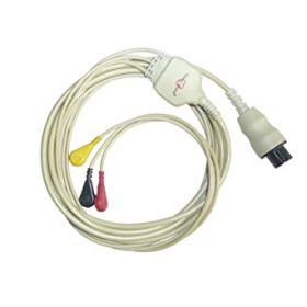Creative ECG Cable for use with PC-80A/B ECG Reader/Monitor, 3 Lead