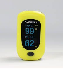 Creative PC-60B1 Finger Pulse Oximeter, Yellow, With Carry Case
