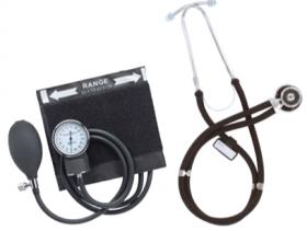 Emerald Sphygmo & Sprague Stethoscope Set (Black)