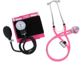Emerald Sphygmo & Sprague Stethoscope Set (Pink)