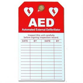 Martek DAC-801 AED Inspection Tag