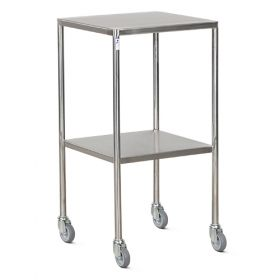 Bristol Maid Trolley - Dressing - Stainless Steel - 2 Fixed Shelves - 4 Down Turned Sides