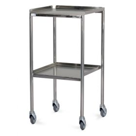 Bristol Maid Trolley - Dressing - Stainless Steel - 2 Fixed Shelves - 3 Upturned Sides