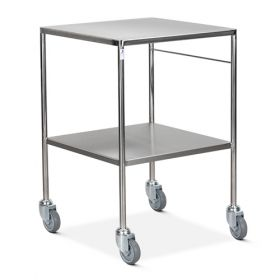 Bristol Maid Trolley - Dressing - Stainless Steel - 2 Fixed Shelf - 4 Down Turned Sides
