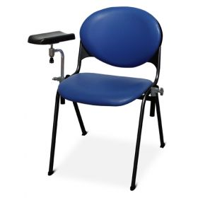 Bristol Maid Phlebotomy Chair - Fixed Height - Vinyl - Bristol Blue