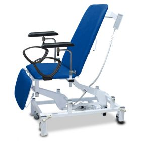 Bristol Maid Phlebotomy Chair - Variable Height - Three Section - Vinyl - Bristol Blue