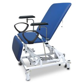 Bristol Maid Phlebotomy Chair - Bariatric - Variable Height - Three Section - Electric - Vinyl - Bristol Blue