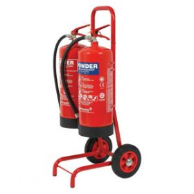 Fire Extinguisher Trolley Double with Bucket