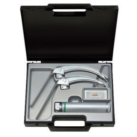 Heine FlexTip +? F.O. Laryngoscope Set with Mac 3 and Mac 4 blades, 2.5v