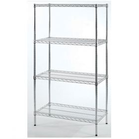 4 Shelves Chrome 162.5x91.5x35.5cm