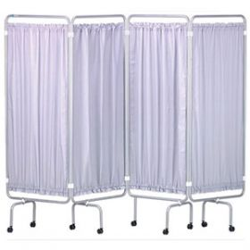 Medical Screen & Curtains Chrome Frame
