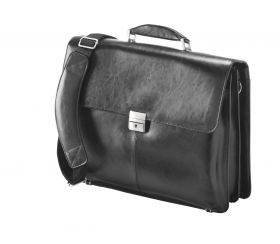 Leather 15.6 inch Laptop Brieface; FI2564L; Black