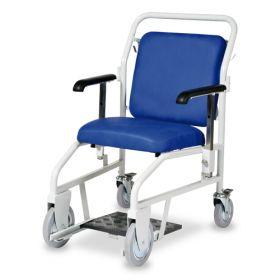 Bristol Maid Portering Chair - Rear Steer - Nesting - Sliding Foot Rest - Vinyl - Bristol Blue