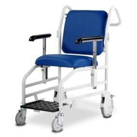 Bristol Maid Portering Chair - Front Steer - Nesting - Sliding Foot Rest - Vinyl - Bristol Blue