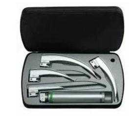 HEINE Classic+ Fibre Optic Laryngoscope Box Set, Includes Standard 2.5V LED Handle (Adult), & Autoclavable Blades (Paed 1, Mac 2, Mac 3, Mac 4)