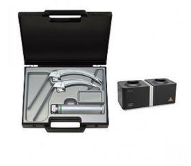 HEINE FlexTip+ Fibre Optic Laryngoscope Box Set, Includes Standard 2.5V LED Handle (Adult), & Autoclavable Mac 3 & Mac 4 FlexTip+ Blades