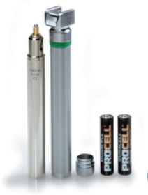 Heine Small Laryngoscope F.O. 2.5v Handle for 2 AA batteries, complete