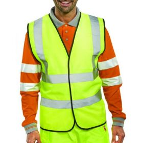 HI-VIZ VEST YELLOW EN 20471 MEDIUM