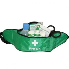 British Standard Compliant Travel First Aid Kit in Bum Bag