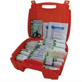 Evolution British Standard Compliant Workplace First Aid Kit Orange Case Small