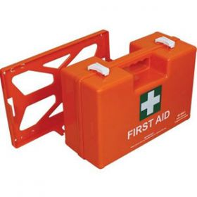 British Standard Compliant Deluxe Workplace First Aid Kits, Orange Case, Large