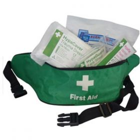 Motor Vehicle First Aid Kit Small BS 8599-2 in Bum Bag