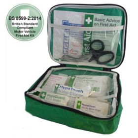 Motor Vehicle First Aid Kit Small BS 8599-2 in Pouch