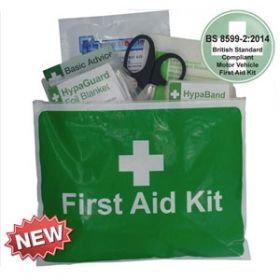 Value Motor Vehicle First Aid Kit Medium BS 8599-2 in Vinyl Zipper Wallet