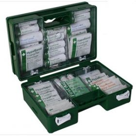 Deluxe 21-50 Persons Statutory First Aid Kit in Green Case