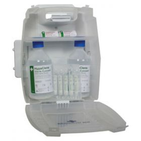 Plus 2x500ml Eyewash Kit with 8 Eyewash Pods and Mirror