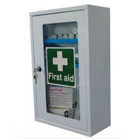 First Aid Cabinet Single Clear Door, Empty