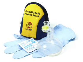 Laerdal Paediatric Pocket Mask with Gloves and Wipe in Hard Case