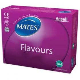 Mates Mixed Flavours Condoms Clinic [Pack of 144]