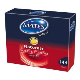 Mates Natural Condoms Clinic Pack [Pack of 144]