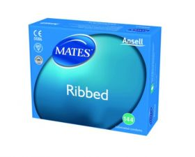 Mates Ribbed Condoms Clinic Pack [Pack of 144]