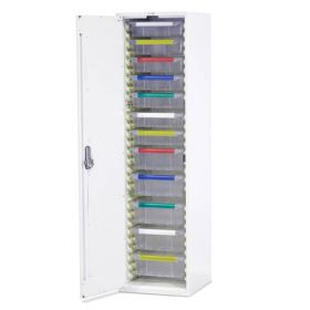 Bristol Maid Drug & Medicine Cupboard - L/H Hinge - 1870mm - 7 X 100mm & 5 X 150mm Trays - Digital Push Button Lock