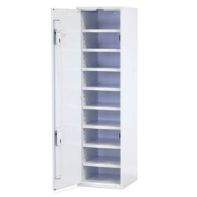 Bristol Maid Drug & Medicine Cupboard - L/H Hinge - 1870mm - Flat Shelves - Digital Push Button Lock