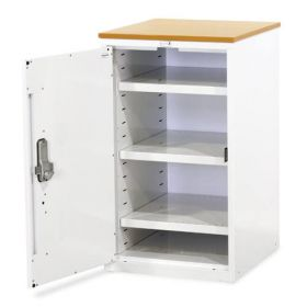 Bristol Maid Drug & Medicine Base Unit - L/H Hinge - 870mm - Flat Shelves