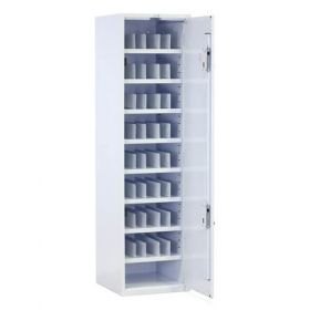 Bristol Maid Drug & Medicine Cupboard - R/H Hinge - 1870mm - Flat Shelves & Dividers - Digital Push Button Lock