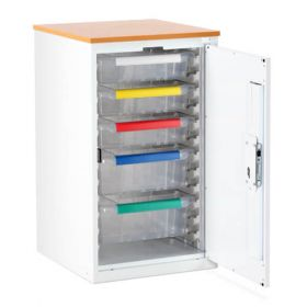 Bristol Maid Drug & Medicine Base Unit - R/H Hinge - 870mm - 3 X 100mm & 2 X 150mm Trays - Digital Push Button Lock