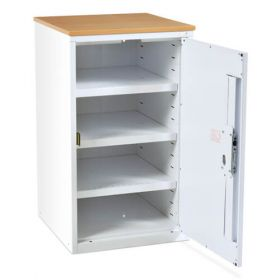 Bristol Maid Drug & Medicine Base Unit - R/H Hinge - 870mm - Flat Shelves - Digital Push Button Lock