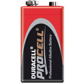 Duracell Procell Alkaline 9 Volt Size PP3 / 6LR61 Battery [Pack of 10]