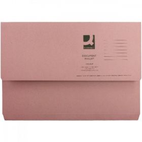 NP DOCUMENT WALLET FOOLSCAP PINK