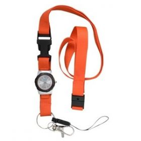 Nurse's Watch with Lanyard - Black