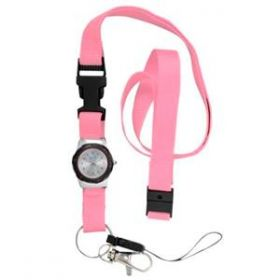 Nurse's Watch with Lanyard - Pink