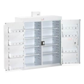 Bristol Maid Drug & Medicine Cabinet - 800 X 300 X 900mm - Light - Standard & Door Shelves - Independent Locking Doors