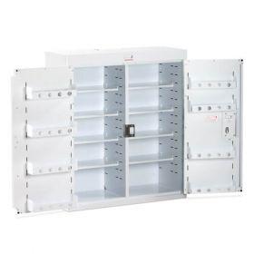 Bristol Maid Drug & Medicine Cabinet - 800 X 300 X 900mm - No Light - Standard & Door Shelves - Independent Locking Doors