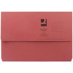 Q-CONNECT DOCUMENT WALLET FS RED