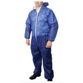 Disposable Overall, Blue, Large