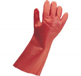PVC Gauntlet Gloves, Medium, 35cm
